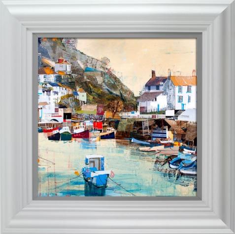 Tom Butler - Bobbing Boats, Polperro framed