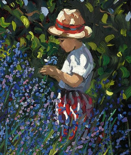 Sherree Valentine Daines Picking Bluebells