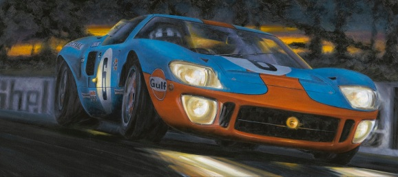 Anthony Dobson Into the night Ford GT40