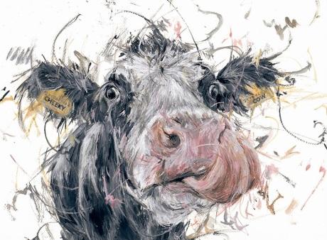 Aaminah Snowdon Cheeky Cow mounted